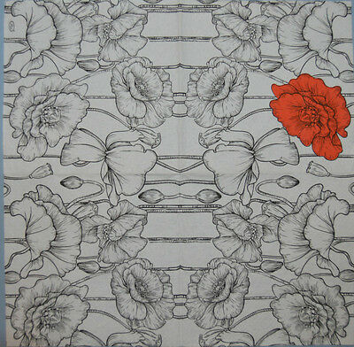 PAPER TABLE NAPKINS POPPIES FOR CRAFT FLOWERS DECOUPAGE TEA PARTIES 147