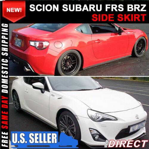 Fit For 13-19 Scion//Subaru FRS//BRZ CS Style Aero Side Skirts Rear Aprons