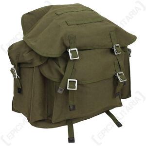 Bundeswehr Rucksack With Original Straps Olive Green Backpack Bag