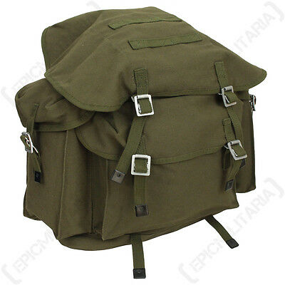 Groß Gurtband Rucksack mit Taschen Verwendung als Rucksack Armee Militär Leinen