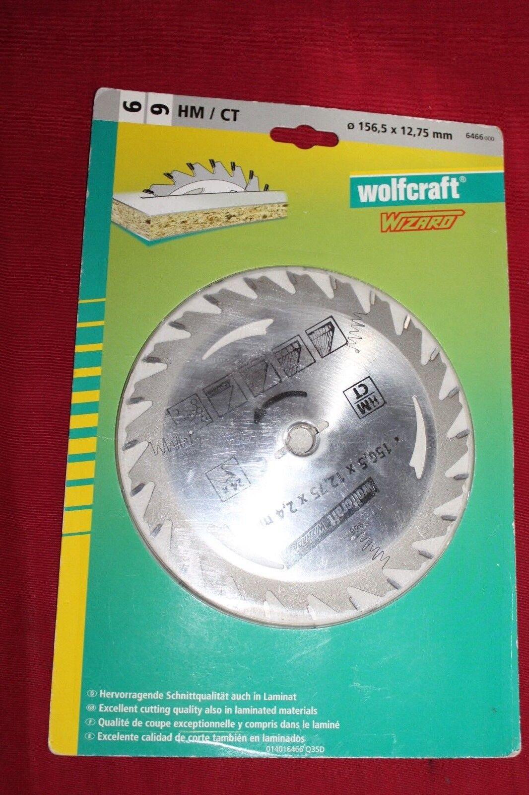 Wolfcraft Kreissägeblatt 156,5 x 12,75 x 2,4 mm 24 Zähne CV Art.Nr. 6466000