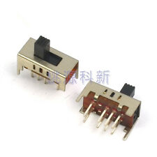 15PCS Slide Switch 2P3T Vertical 8Pin 3 Position DC50V 0.3A SS23D15