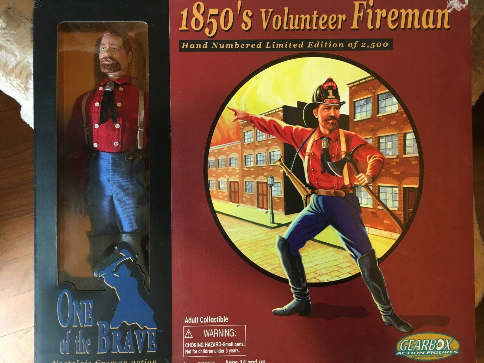 Gearbox 1850s Volunteer Fireman 2003 One of the Brave action figure NEW limited