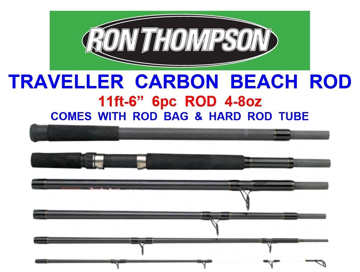 RON THOMPSON 11ft-6  TRAVELLER 6pc CARBON BEACH ROD SEA SURF FISHING BEACHCASTER