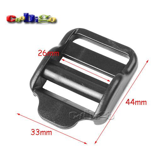 """1/"""" Cerradura De Escalera de plástico control deslizante hebilla ajustable correas de mochila para correas"""