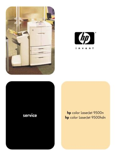 HP LaserJet 9500 9500n 9500hdn Service Manual (Parts & Diagrams)