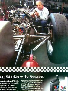 "Joe Pisano World's Fastest Funny Car 1989 Valvoline Original Print Ad-8.5 x 11"""