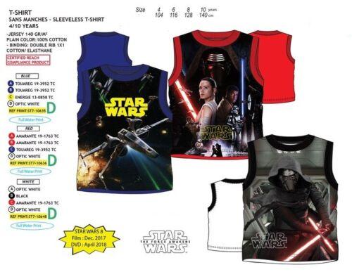 Disney World Star Wars Enfants Garçons Tank Top aisselle shirt d/'été chemisier 3 motifs