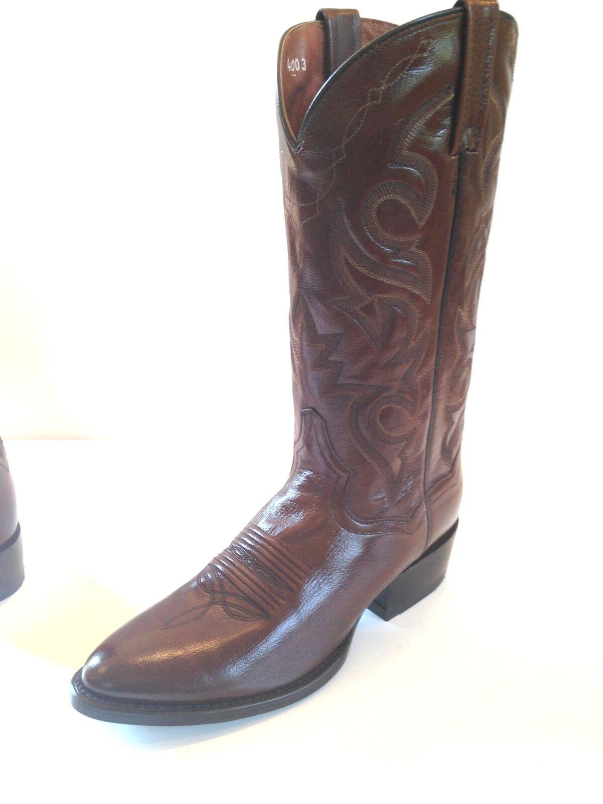 Dan Dan Dan Post Mens Mignon CGoldna Leather Western Stiefel DP211R Antique Tan Größe 7.5D 4c5178