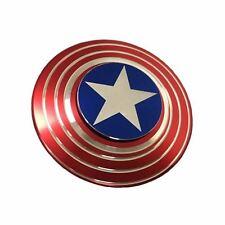 NEW Captain America Shield Fidget Hand Spinner EDC Focus For Kids ADHD Autism