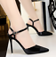 Womens-stilettos-pointed-toe-high-heels-sandals-shoes-ankle-strap-buckle-chic thumbnail 13