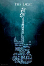 GUITAR COLLAGE POSTER - 24x36 MUSIC THE BEST PLAYERS GARCIA HENDRIX 10560