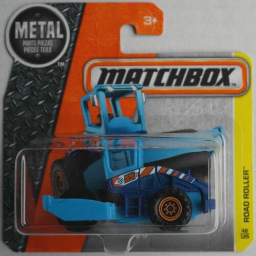 Matchbox Road Roller Straßenwalze dunkelblau/hellblau Neu/OVP Baustelle MBX blue