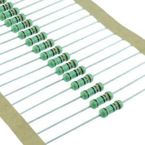 1-2W-0-5W-Metal-Film-Resistor-1-Tolerance-1-Ohm-4-7M-Ohm