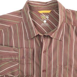 Mountain-Hardwear-Nylon-Long-Sleeve-Fishing-Hiking-Shirt-Mens-2XL-Purple-Green