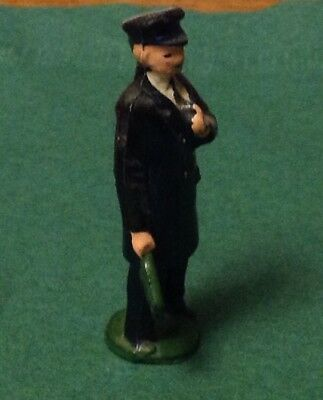 2019 Nuovo Stile Britain's Etc.54mm Civilian Figure Railway Passenger Etc. Guard With Flag