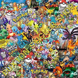 Pokemon-ir-Pegatinas-Bomb-Hoja-Euro-Vinilo-Calcomania-VW-OPEL-HONDA-Dub-Wrap