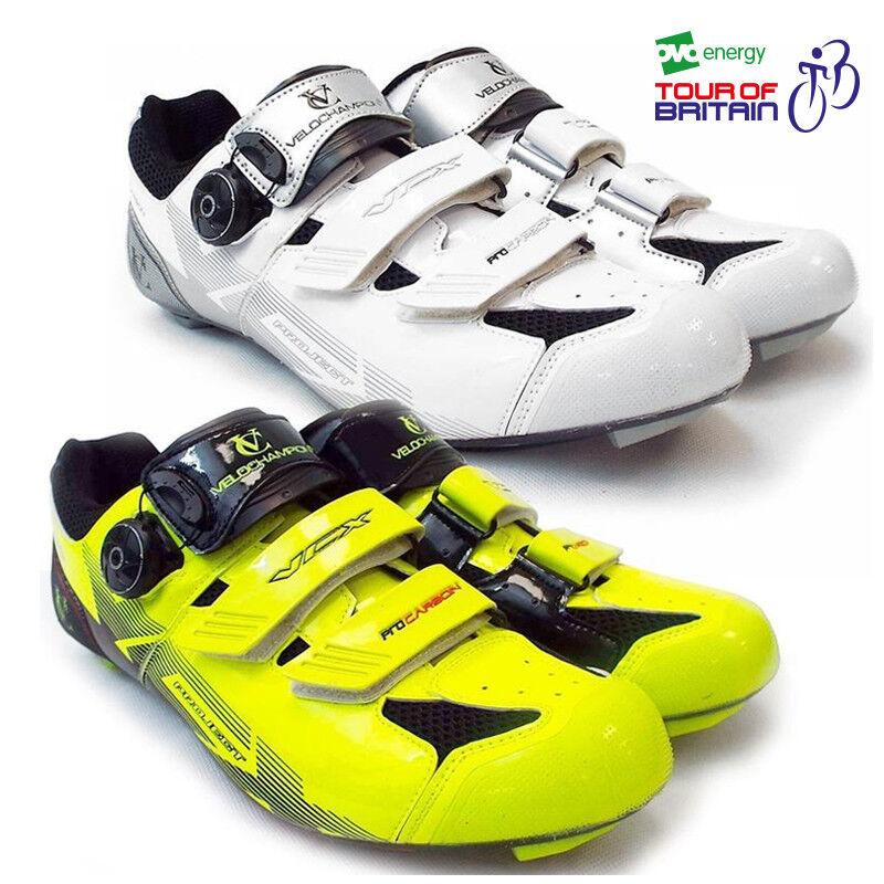 VeloChampion VCX chaussures pour le cyclisme (Paire) avec fibre de carbone Semelles