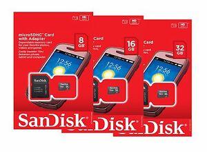SanDisk-8GB-16GB-32GB-Micro-SD-SDHC-Class-4-TF-Flash-Memory-Card-Adapter-Lot