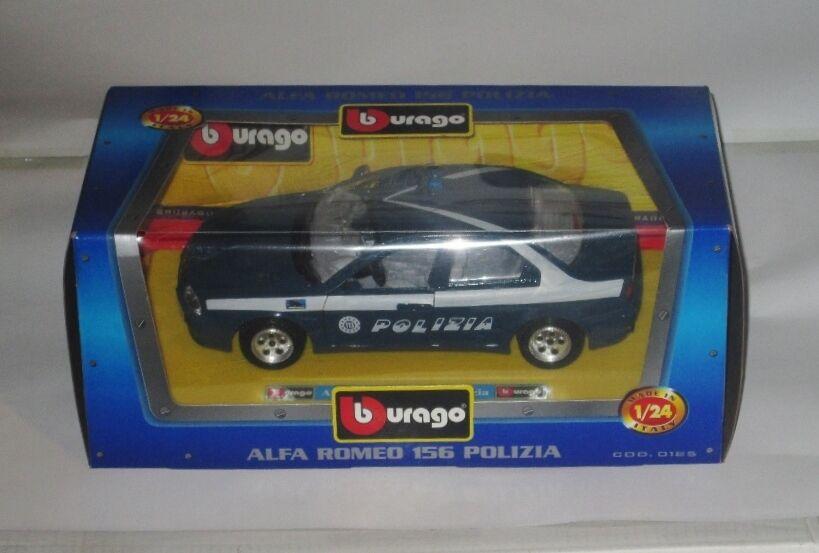 Burago alfa romeo romeo romeo 156 polizia polizeiauto 1   24 - bnib 088b81