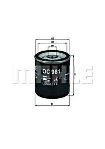 MAHLE Oil Filter For SAAB SKODA AUSTIN AC FORD ROVER NISSAN TOYOTA 90 II FL910