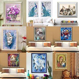 DIY 5D Point De Croix Broderie Diamant Cristal Peinture Décor Maison ...