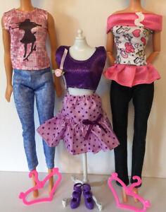 Barbie Steffi Sindy Fashion Doll Dress Shoes Hangers Clothes Bundle Lot 16 Ebay