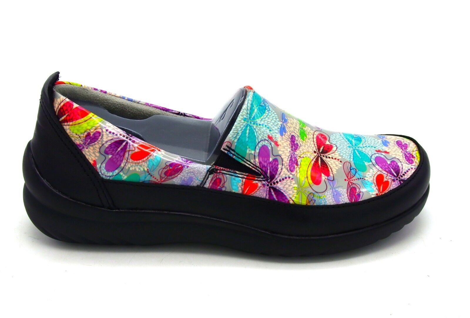 New Klogs Footwear USA Women's Ashbury Spring Dragonfly Patent Slip On shoes