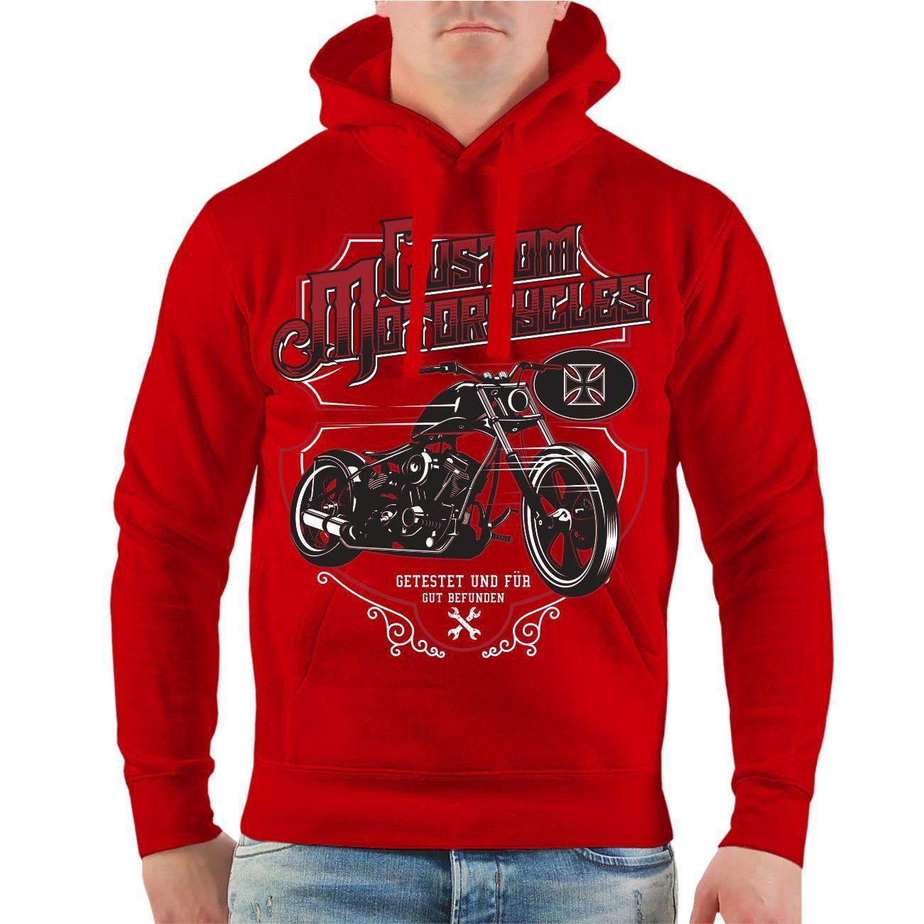 Kapuzenpullover Custom Motorcycles Motorrad Chopper Biker Spruch Geschenk Hoodie