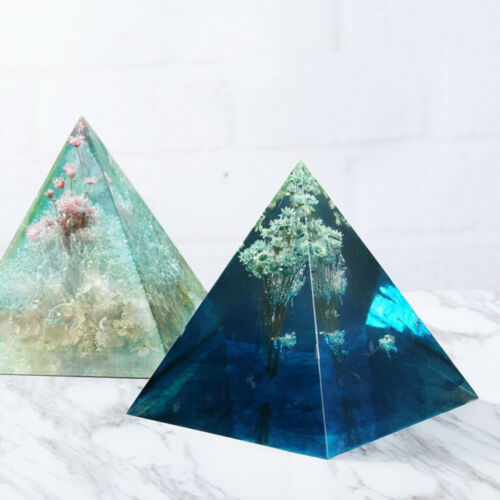 1* Pyramid Silicone Mold Resin Jewelry Making Mould Epoxy Pendant Craft DIY Tool