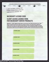 Microsoft Windows Terminal Server 2008 100 CAL User RDS Remote Desktop R2