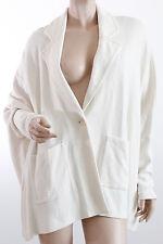 St. John Milano Caviar Knit Poncho Jacket Blazer Vanilla White Size M $1295