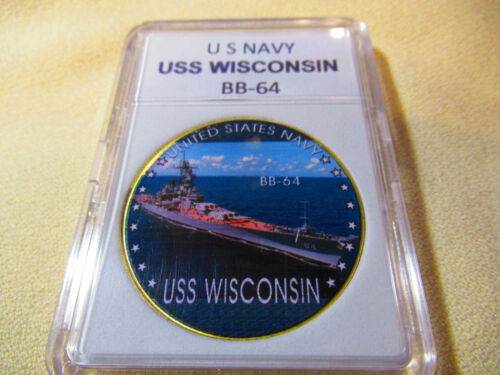 USS Wisconsin BB-64 US NAVY Challenge Coin