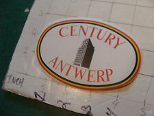 vintage Unused vintage original Luggage sticker: CENTURY ANTWERP hotel
