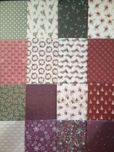 "6/"" x 6/"" 16 Sheet Taster Pack WINTER ROSE Christmas Card Making Scrapbook Paper"