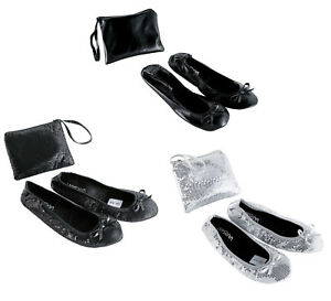 Roll-Up-Satin-Sequin-Shoes-Fold-Up-Flats-Ballet-Ladies-After-Party-Shoe-With-bag
