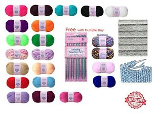 Acrylic Wool Knitting Yarn Bottle Green Sewing Solutions 100g NEW!!