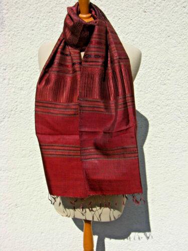 Écharpe en soie de soie étole écharpe des rouge jacquarddesign SOIE NEUF sl11