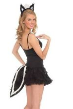 Skunk Ears & Furry Tail Costume Kit Sexy Plush Furry Deluxe Cosplay - Fast Ship