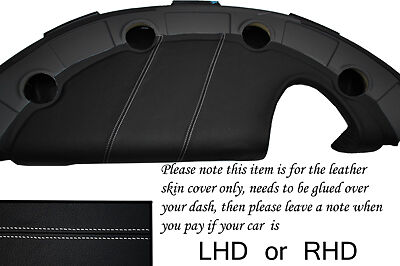 WHITE STITCH FITS LOTUS ELISE EXIGE S2 2002-2006 DASH LEATHER COVER ONLY