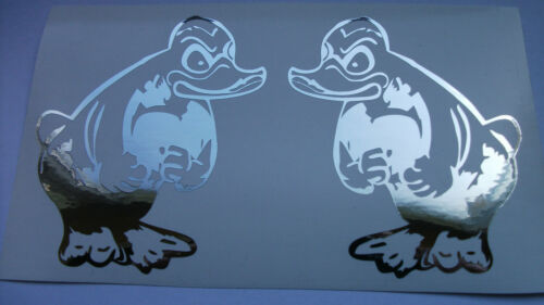 1 Paar Rubber Duck in Chrom Folien L /& R für das Modell Fahrerhaus in 1:14,5