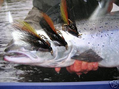 3 V Fly Size 12 Ultimate Arctic Munro Killer GOLD Treble Salmon Flies