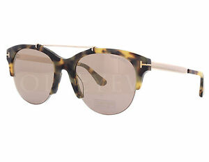 NEW Tom Ford FT0517 56Z Adrenne Havana Gold   Purple Sunglasses (NO ... b945700637