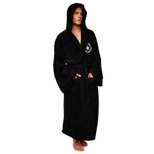 5XL MENS SOFT/&COZY HOODED FLEECE DRESSING GOWN BATHROBE ROBE SIZES M