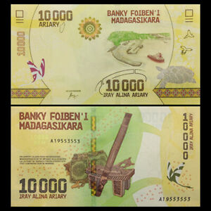 Madagascar-10000-Ariary-ND-2017-P-103-NEW-NEW-Design-UNC