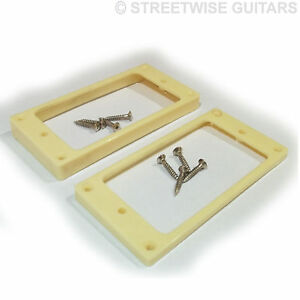 guitar pickup mounting rings humbucker for arch top x 2 ivory lp 10 8mm 6 4mm ebay. Black Bedroom Furniture Sets. Home Design Ideas