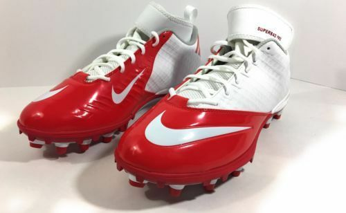 best website d3dd9 9a384 Nike Lunar Superbad Pro TD Football Molded Red Cleats 511334-112 Size 18  for sale online   eBay