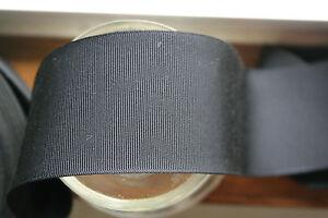 "BTY 7//8/"" navy blue vintage silk warp petersham ribbon millinery hat"
