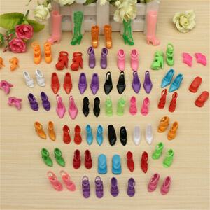 40Pairs-Lot-Doll-Shoes-High-Heel-Sandals-Doll-Fashion-new
