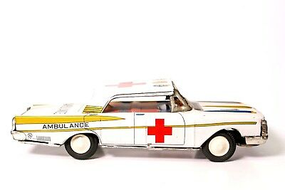 Blechspielzeug Vintage Nakamura Japanisch Blech Reibung Chevrolet Krankenwagen Exquisite Traditionelle Stickkunst Spielzeug